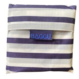 Baggu Blue Gray White Striped Reusable Bag RETIRED